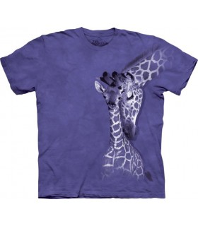 Giraffe Family - Zoo Animals T Shirt by the Mountain