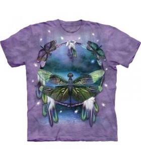 Dragonfly Dreamcatcher - Insect T Shirt by the Mountain