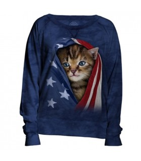Sweat-shirt Femme Chaton patriotique The Mountain