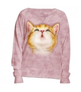 So Kissable Womens Pet Cat Slouchy Crew