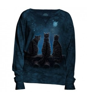Wish Upon A Star Women Slouchy Crew Lisa Parker