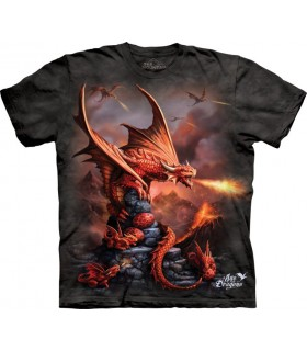 Fire Dragon Anne Stokes Fantasy T Shirt
