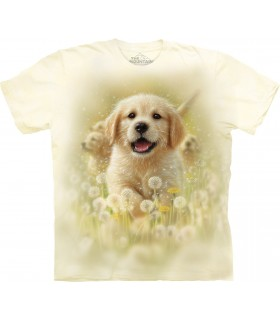 T-shirt Chiot Golden Retriever The Mountain