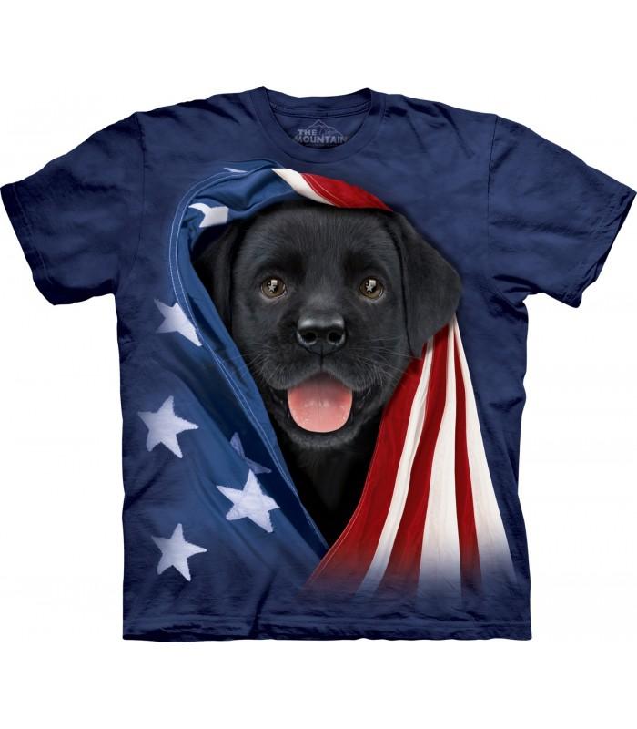 Patriotic Black Lab T Shirt
