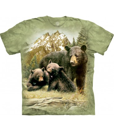 Famille Ours Noirs - T-shirt Ours The Mountain
