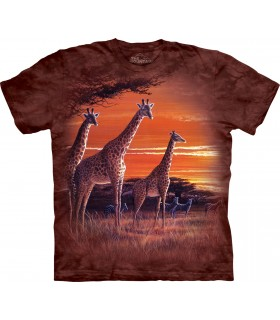 Coucher de soleil Africain - T-shirt Animal The Mountain