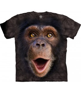 T-shirt Chimpanzé Heureux The Mountain