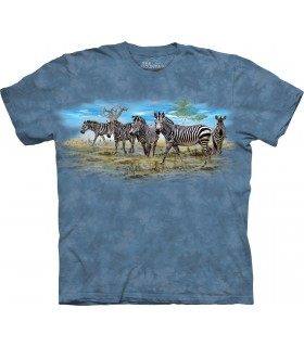 Zebra Gathering T Shirt