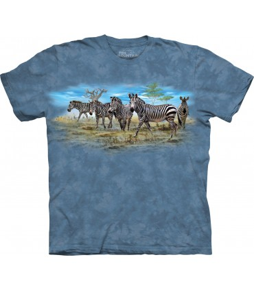 Zebra Gathering T Shirt
