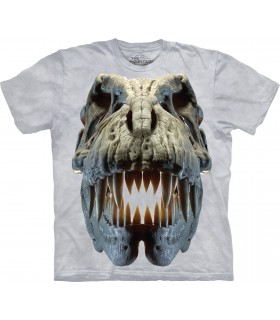 T-Rex Argenté - T-shirt Dinosaure The Mountain