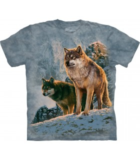 T-shirt Couple de Loups The Mountain