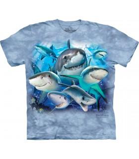 T-shirt Selfie de Requin The Mountain