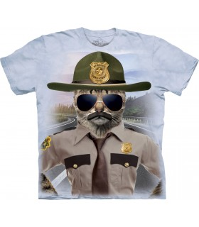 Chaton Policier - T-shirt Chat The Mountain