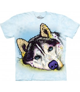 T-shirt Husky Sibérien Coloré The Mountain
