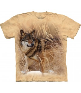 Winter Wolf Portrait T Shirt