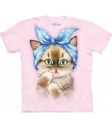 Chaton Pin Up - T-shirt Chat The Mountain