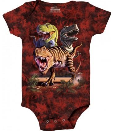 Rex Collage Dinosaur Babygrow