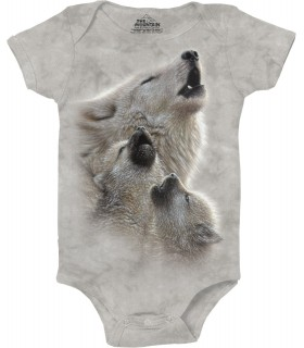 Babygro Loups The Mountain