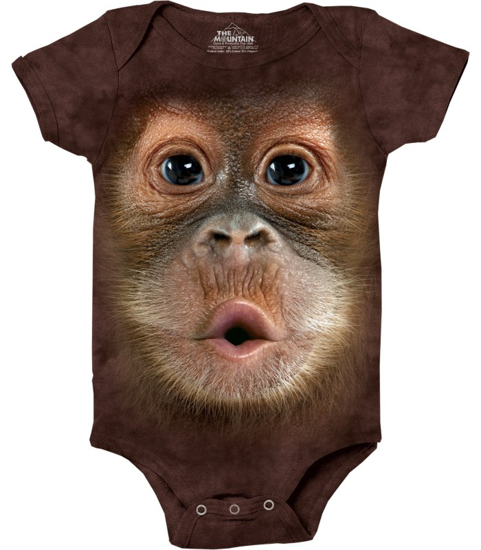 Orangutan Baby Face Babygrow