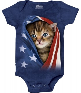 Patriotic Kitten Pet Babygrow