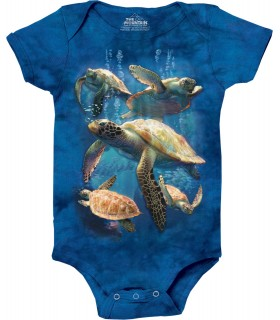 Sea Turtle Family Babygrow