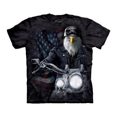 Biker Striker Bird The T Shirt by the Mountain