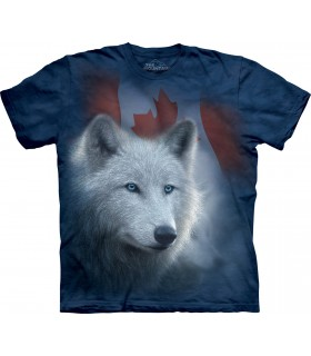 T-shirt Loup Blanc du Canada The Mountain