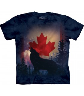 Canadian Howl Wolf T Shirt