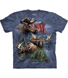 Canadian Moose Collage T Shirt