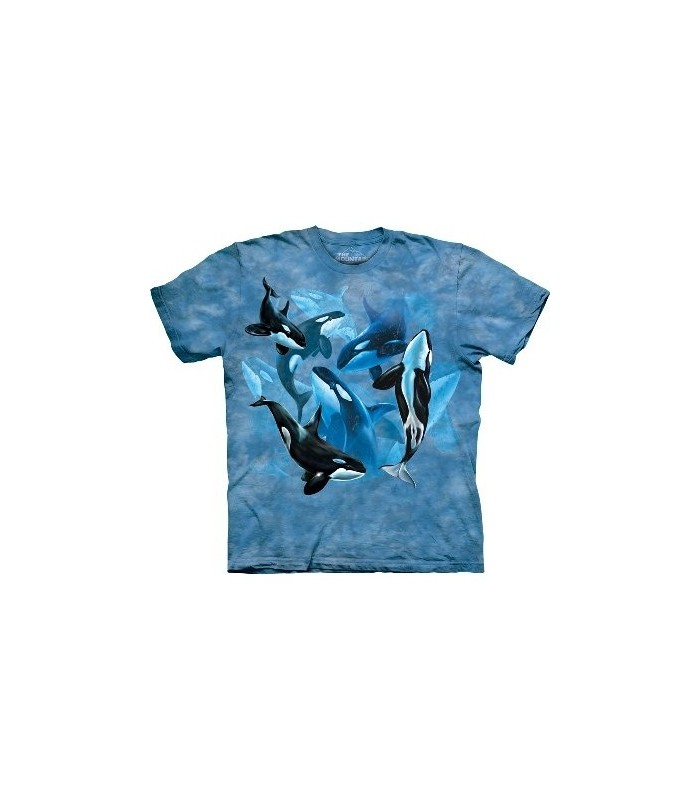 Orca Collage - Sealife T Shirt by the Mountain