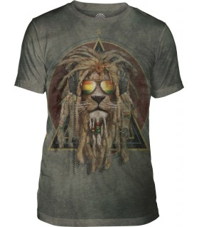 T-shirt DJ Lion Retro Tri-blend The Mountain