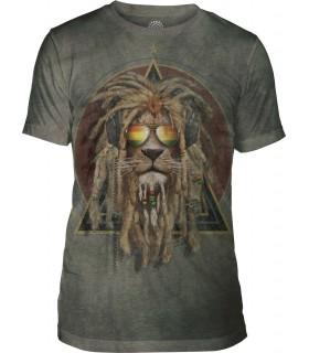 T-shirt DJ Lion Retro Tri-blend The Mountain
