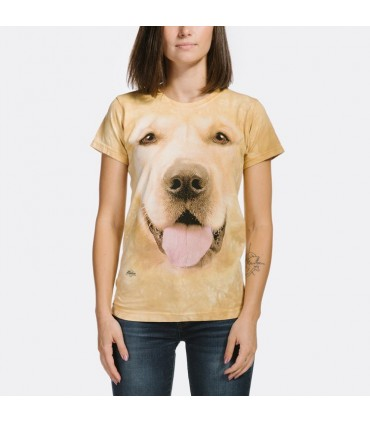 T-shirt Femme Golden Retriever The Moutain