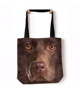 Chocolate Lab Face Brown Pet Tote Bag 45x45cms The Mountain