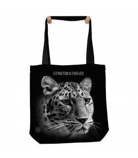 Extinction Is Forever Black Tote Bag 45x45cms The Mountain