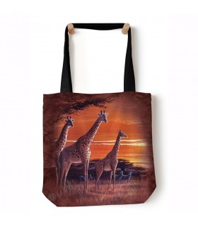 Sundown Brown African Animal Tote Bag 45x45cms The Mountain