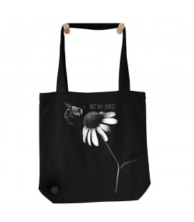 Bee My Voice Black Protect Tote Bag 45x45cms The Mountain