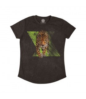 The Mountain Dynamic Jaguar Womens Tri-Blend Animal T Shirt