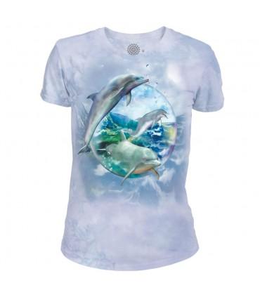 Bulle de dauphin - T-shirt Femme Tri-blend The Mountain