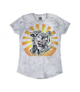 The Mountain Tigers Blaze Womens Tri-Blend Animal T Shirt