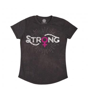 Strong Womens - T-shirt Femme Tri-blend The Mountain