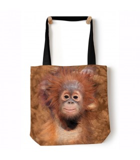 Orangutan Hang Brown Animal Tote Bag 45x45cms The Mountain