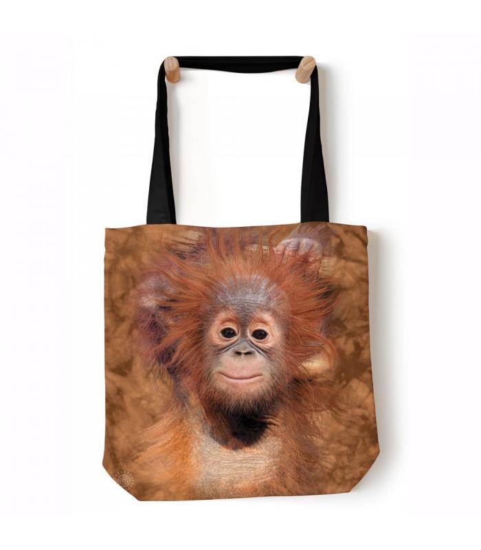 Orangutan Hang Brown Animal Tote Bag 45x45cms The Mountain