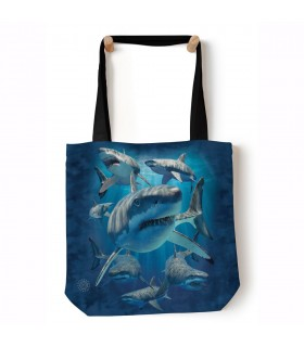 Great Whites Blue Aquatic Tote Bag 45x45cms The Mountain