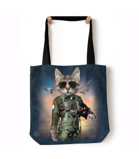 Sac cabas Tom Cat bleu/gris The Mountain
