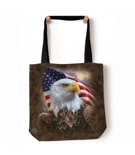 Independence Eagle Brown USA Tote Bag 45x45cms The Mountain