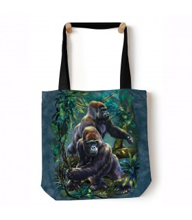 Gorilla Jungle Blue Animal Tote Bag 45x45cms The Mountain