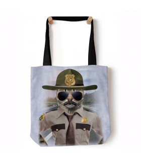 Kitten Trooper Blue Manimal Tote Bag 45x45cms The Mountain
