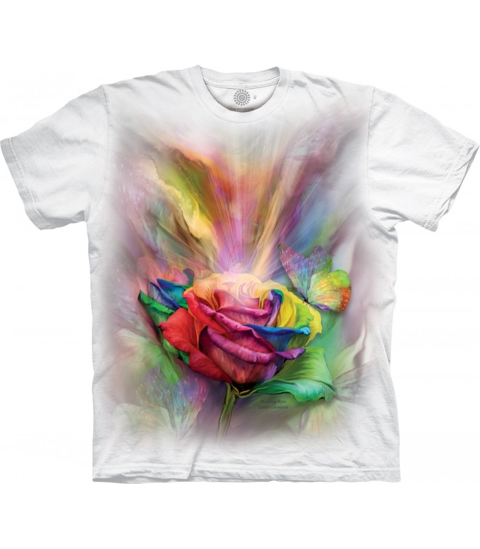 The Mountain Healing Rose Special Edition White T Shirt