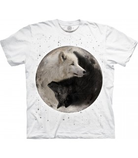 T-shirt Loups Yin Yang Edition Spéciale Blanc The Mountain